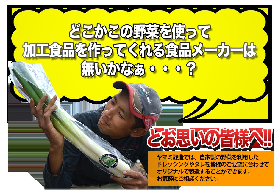 どこかこの野菜を使って加工食品を作ってくれる食品メーカーは無いかなぁ・・・?